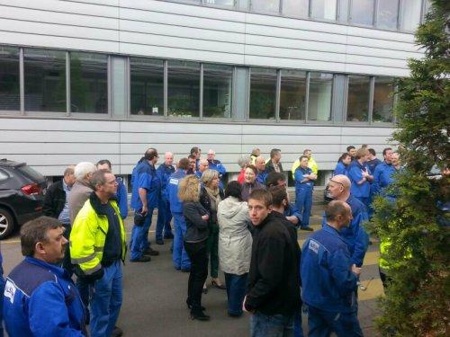 Débrayage le 14 avril à l'usine Alstom de Mannheim