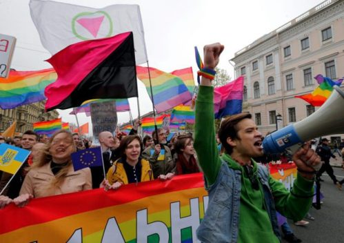 Cortège pour les droits des gays et lesbiennes