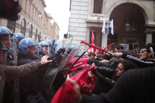 ITALY--MAYDAY-PROTEST