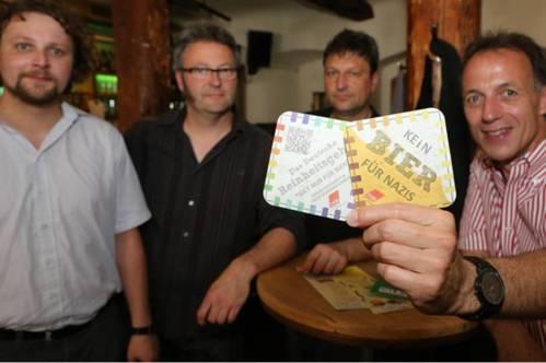 """Dans une brasserie à Bamberg : """"Pas de bière pour les nazis"""""""