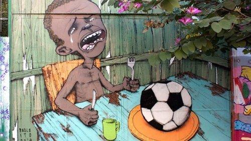 © PAULO ITO/FLICKR Peinture murale de l'artiste de rue brésilien Paulo Ito, réalisée en mai 2014 à Sao Paulo