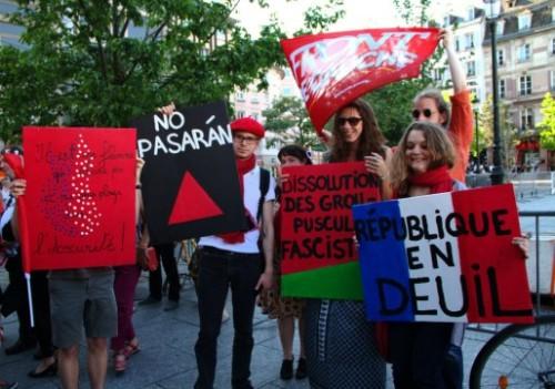 La manifestation conte le FN partira de la place Kébler à 14h15 pour rejoindre le Parlement Européen. (Photo Claude Truong-Ngoc / Wikipédia Commons / cc)