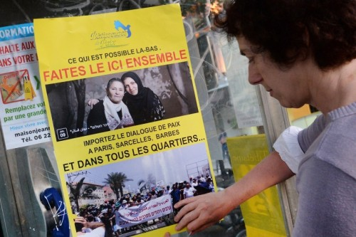 """Les """"Bâtisseuses de Paix"""", le 31 juillet 2014, à Paris. Crédit : PIERRE ANDRIEU / AFP"""