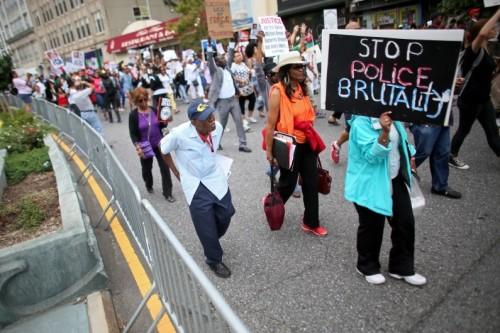 Manifestation contre les violences policières à New York, le 23 août 2014.
