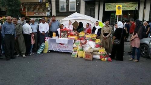 Collecte d'aide humanitaire à Kermanshah