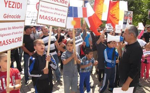 Les yézidis du département réclament une intervention plus soutenue de la communauté internationale dans le nord de l'Irak. - (Photo NR)