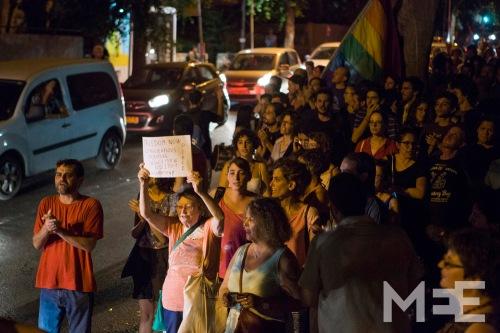 Protest against the Israeli attack on Gaza, Tel Aviv, Israel, 2.