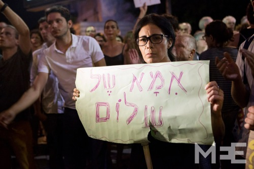 Protest against the Israeli attack on Gaza, Tel Aviv, Israel, 2.