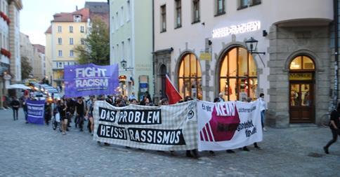 Manifestation à Ratisbonne