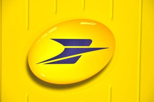 Logo de La Poste (Photo Frank Perry. AFP)