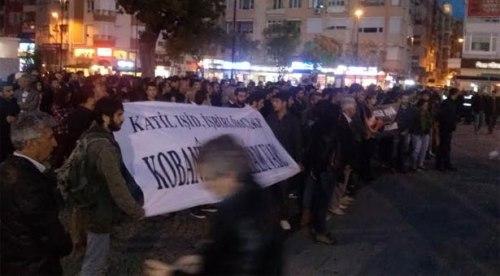 Manifestation à Canakkale (11 octobre)