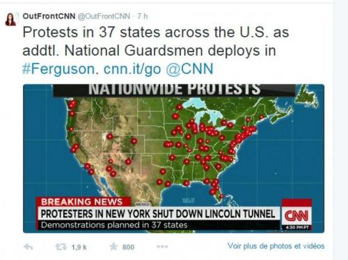 Carte des manifestations le 25 novembre