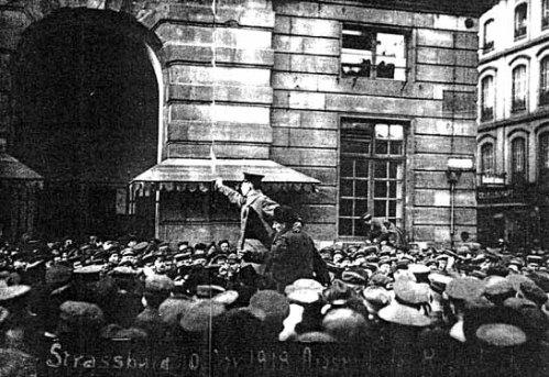 Proclamation de la République des Conseils à Strasbourg, 10 novembre 1918