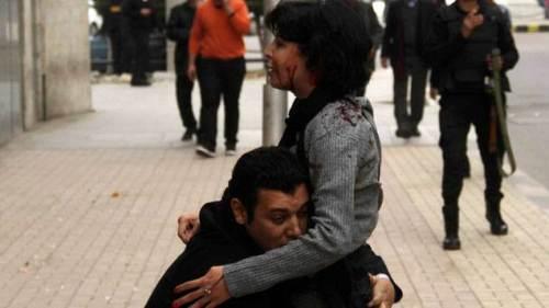 L'image de la mort de Shaimaa el-Sabbagh a fait le tour du monde © REUTERS | Al Youm Al Saabi