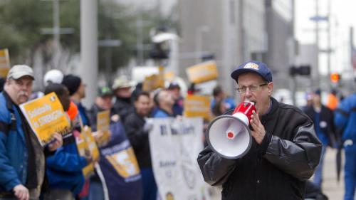 Piquet de grève à Houston