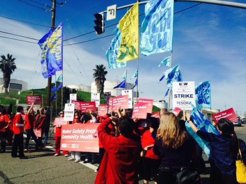 Ouvriers des raffineries et infirmières à Martinez