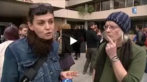 Les intermittents et le MEDEF. Reportage de Yan Olivier d'Amontloir et Luc Truffert.