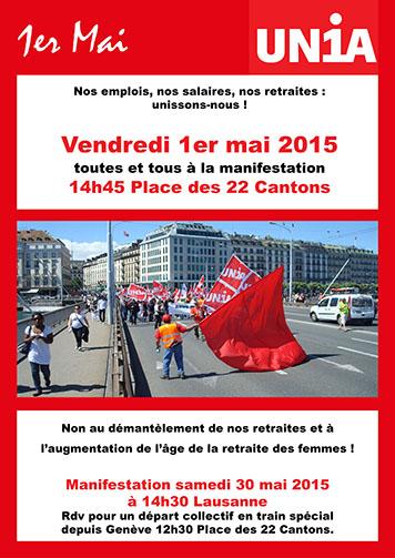 Affiche pour le 1 mai à Genève
