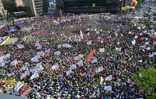 SKOREA-MAY1-PROTEST