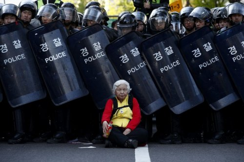 Union protest in Seoul