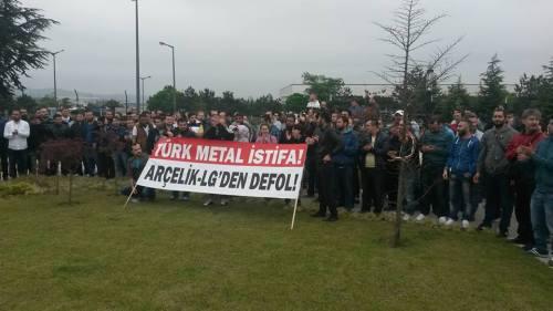 Manifestation des ouvriers d'Arçelik