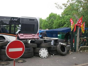 2e jour de greve au depot de bus CIF de Tremblay-en-France