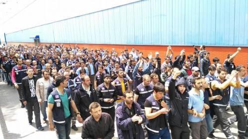 ¨Manifestation des ouvriers de Türk Traktör