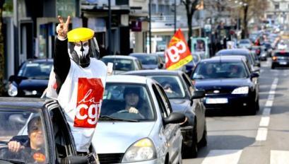 L'union locale CGT avait déjà manifesté en voiture lors d'une manifestation en mars à Maubeuge.