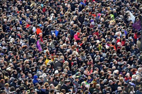 Manifestation à Madrid à l'initiative de Podemos, le 31 janvier 2015  (Photo Gerard Julien. AFP)