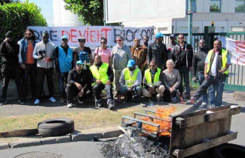 SainteGenevièvedesBois  grève chez Biocoop