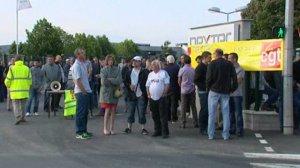 © F3 Centre-Val de Loire Mobilisation sur le site Nexter, à La Chapelle-Saint-Ursin dans le Cher, ce mardi 9 juin.