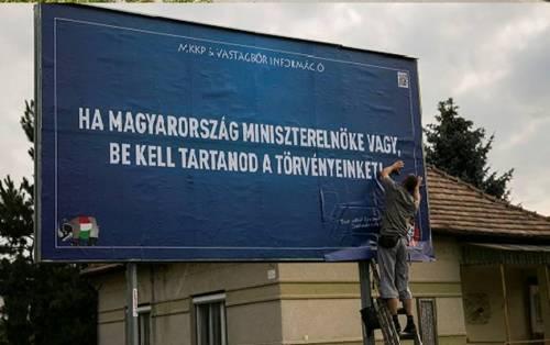 """""""Si tu es premier ministre en Hongrie, tu dois respecter les lois""""."""