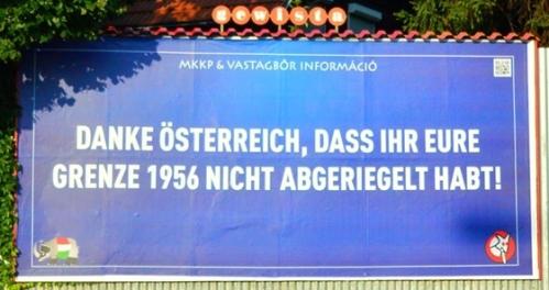 """""""Merci à l'Autriche de ne pas avoir mis de barbelés à sa frontière en 1956"""""""