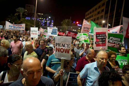 Left-wing protest in Tel Aviv