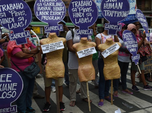 TOPSHOT-PHILIPPINES-POLITICS-WOMEN-INTERNATIONAL-RIGHTS