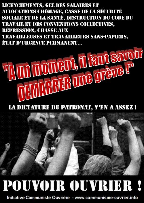 Grève à la raffinerie de Grandpuits (Seine-et-Marne)