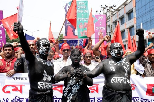 Labor Day demonstration at Paltan in Dhaka